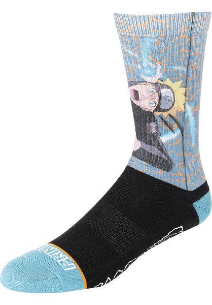 Primitive Skateboards Socken x Naruto Combat blue vorderansicht 0631929