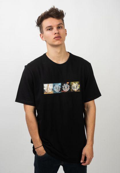 Element T-Shirts x NG Horizontal Seasons flintblack vorderansicht 0320722