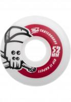 MOB-Skateboards Rollen Skull 100A white-red Vorderansicht