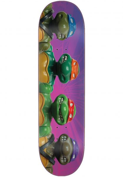 Santa-Cruz Skateboard Decks TMNT Figures Everslick purple-green vorderansicht 0261437