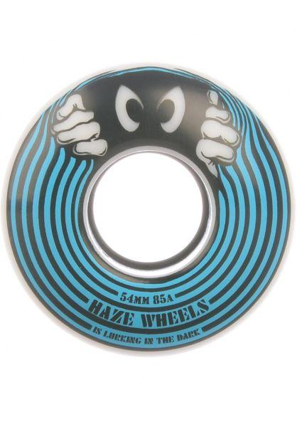 Haze Wheels Rollen Lurk 85A white-blue vorderansicht 0135068