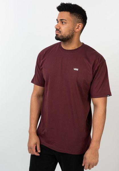 Vans T-Shirts Left Chest Logo portroyale-white vorderansicht 0397675
