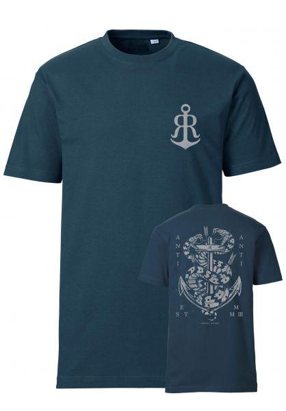 Rebel Rockers T-Shirts Doublesnake indigo vorderansicht 0320742