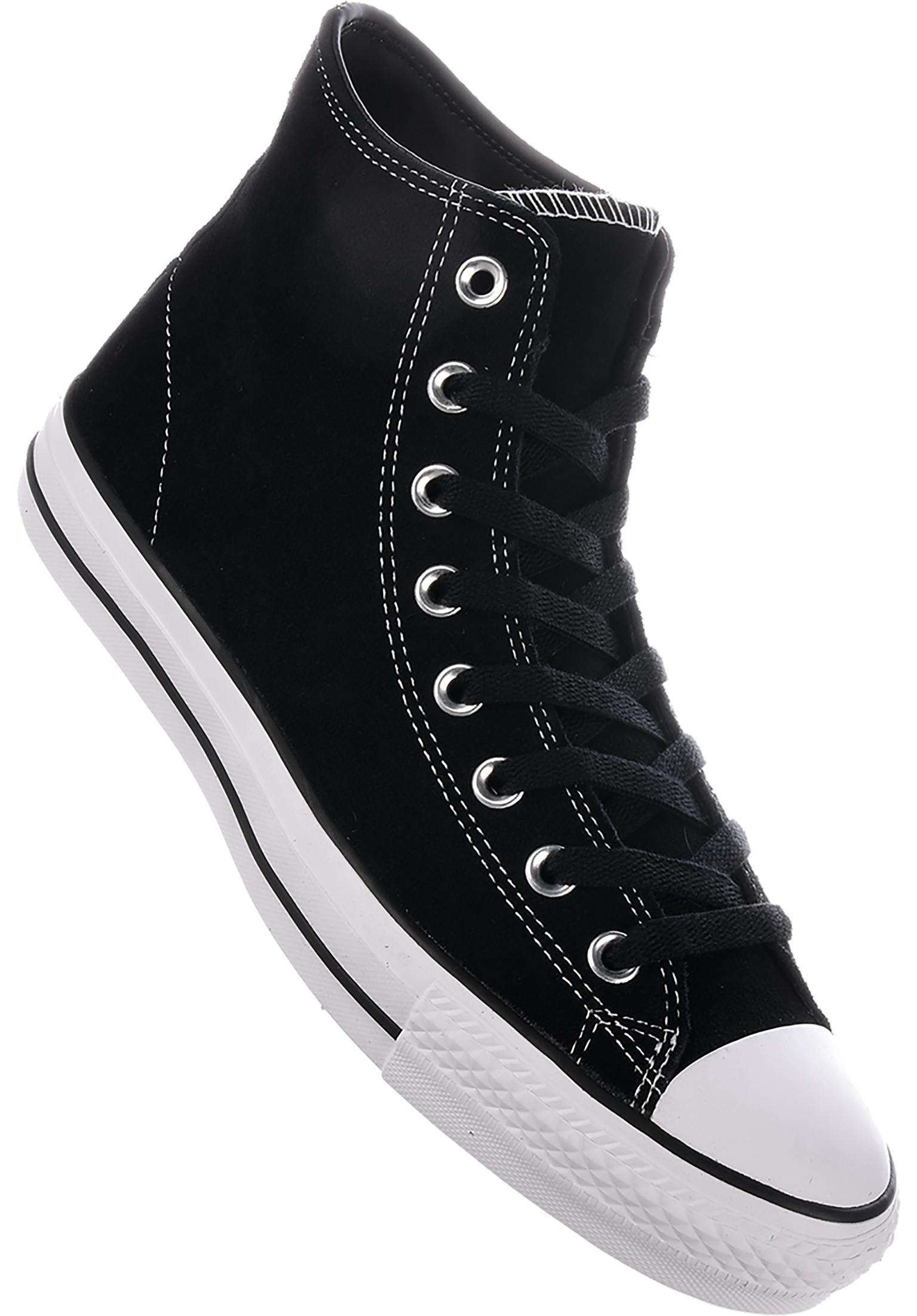 6626be56b0ea CTAS Pro Suede Hi Converse CONS All Shoes in black-black-white for Men