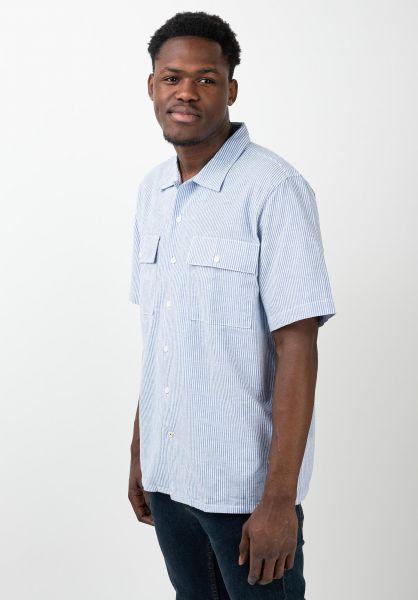 Levis Skate Hemden kurzarm Skate Button Down blue-white vorderansicht 0400980