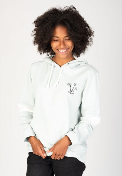 TITUS Hoodies Palm Island Girls mint-green vorderansicht 0422594