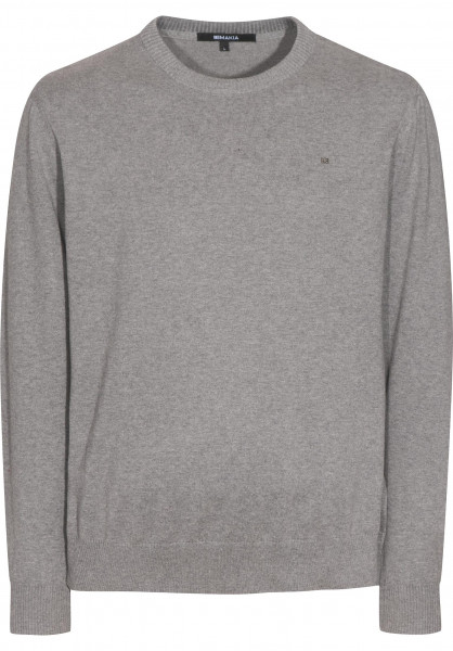 Makia Strickpullover Steel Flag grey Vorderansicht