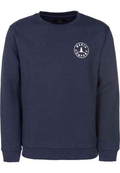 Makia Sweatshirts und Pullover Trade navy vorderansicht 0422622