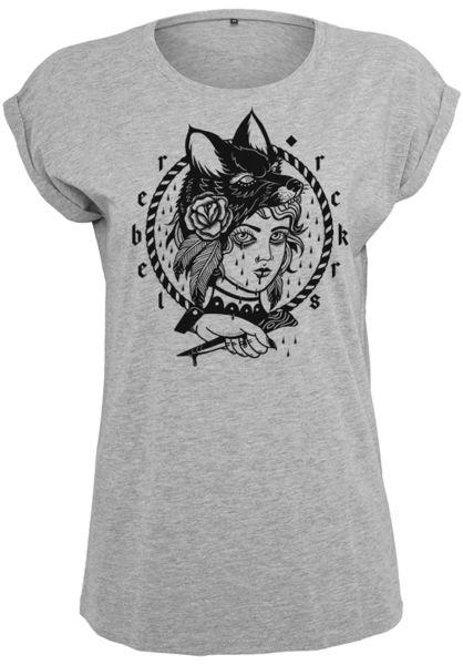 Rebel Rockers T-Shirts RBL greyheather vorderansicht 0321401