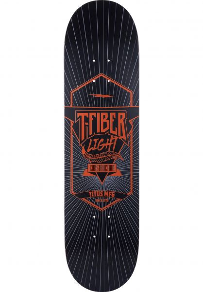 TITUS Skateboard Decks Classic T-Fiber Light black-orange Vorderansicht