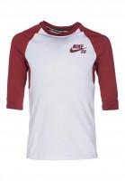 Nike SB Longsleeves DFT 3Qt Sleeve Kids white-darkcayenne Vorderansicht
