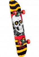 Powell-Peralta Skateboard komplett Ripper Mini one off-yellow-red Vorderansicht
