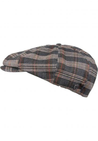 Brixton Hüte Brood grey-tanplaid vorderansicht 0580161