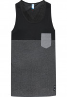 iriedaily Tank-Tops Block Pocket black Vorderansicht