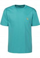 Carhartt WIP T-Shirts Chase softteal-gold Vorderansicht