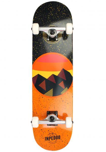 Inpeddo Skateboard komplett Mountain orange vorderansicht 0161923