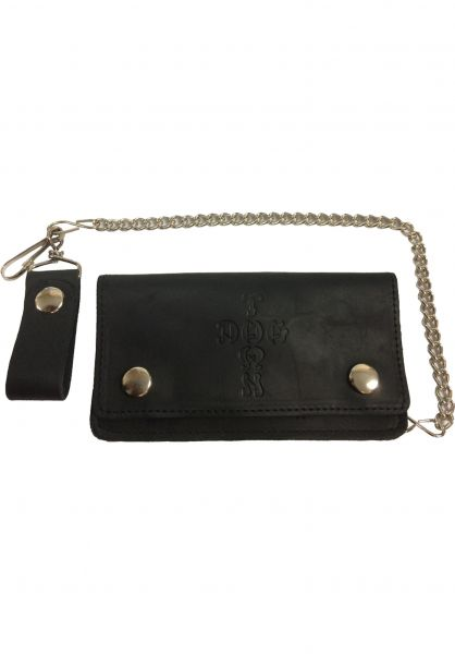 Dogtown Portemonnaie Leather Chain Wallet black Vorderansicht
