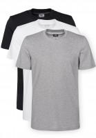 adidas-skateboarding T-Shirts 3 Pack Climalite black-white-grey Vorderansicht