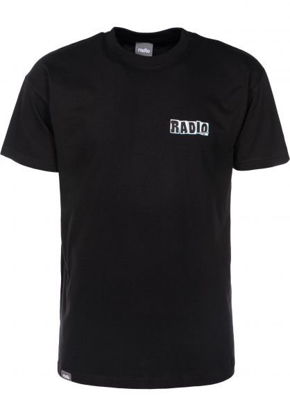 Radio T-Shirts Faker black Vorderansicht