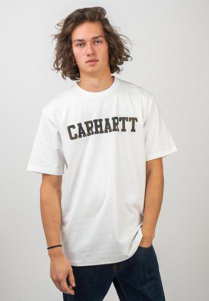 Carhartt WIP T-Shirts College white-camoevergreen vorderansicht 0363536