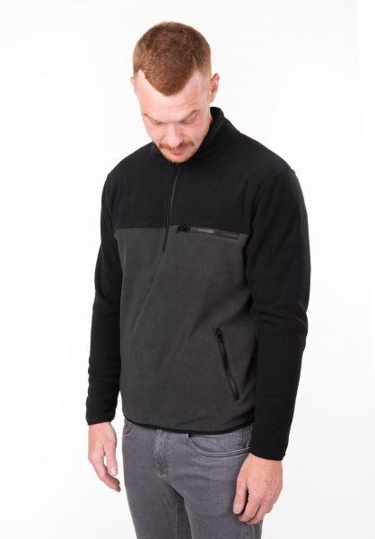 TITUS Sweatshirts und Pullover Hansa Fleece black-darkgrey vorderansicht 0177041