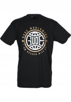 GUDE-T-Shirts-Worldwide-black-Vorderansicht
