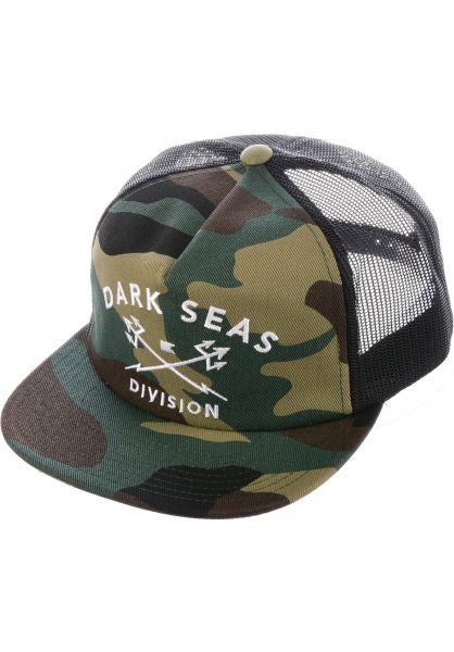 Dark Seas Caps Tridents Trucker camo Vorderansicht
