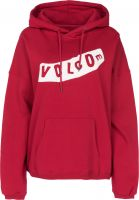 Volcom Hoodies Roll it up chili-red Vorderansicht