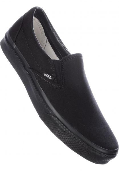 Vans Alle Schuhe Classic-Slip-On black-black Vorderansicht