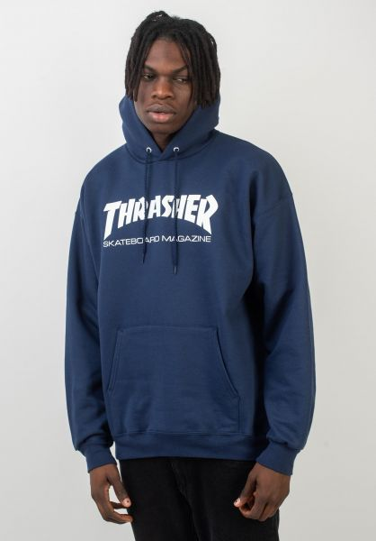 Thrasher Hoodies Skate-Mag navy vorderansicht 0440766