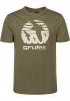 Rules T-Shirts Doves olive Vorderansicht