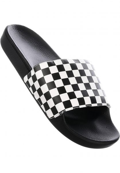 edddf5a08b Vans Sandalen Slide On checkerboard-white Vorderansicht