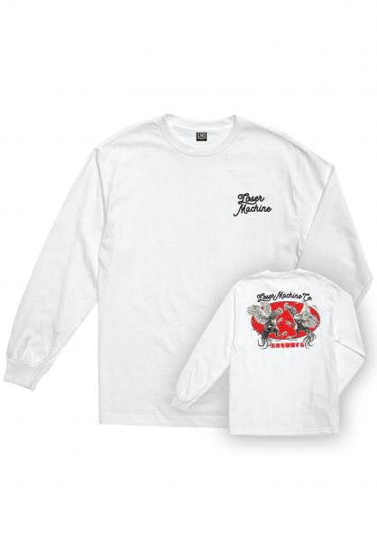 Loser-Machine Longsleeves Chicken Pigment Dyed white vorderansicht 0383540