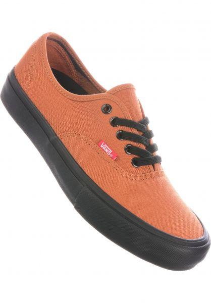 Vans Alle Schuhe Authentic Pro black-glazedginger vorderansicht 0604136