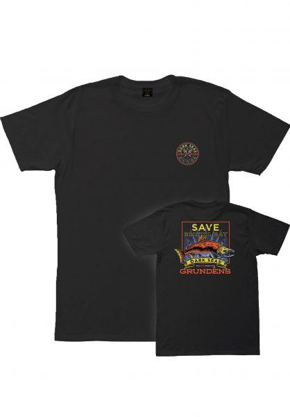 Dark Seas T-Shirts x Grundens Save Bristol Bay black vorderansicht 0399026