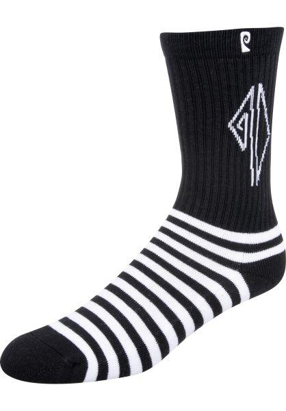 Psockadelic Socken Dollin Stripes black vorderansicht 0631726