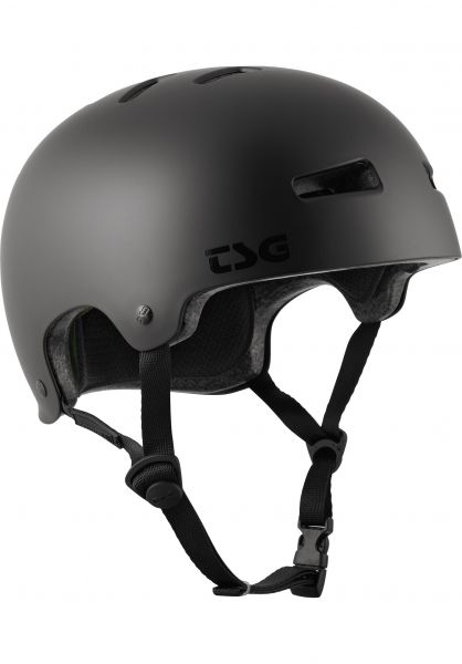 TSG Helme Evolution Solid Colors satin dark black vorderansicht 0075046