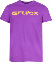Rules T-Shirts Basic purple-orange Vorderansicht