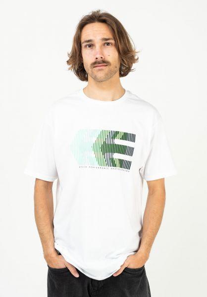 etnies T-Shirts Afterburn white-green vorderansicht 0323540
