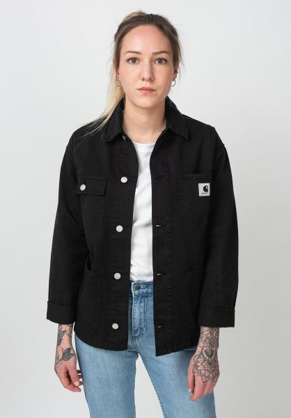 Carhartt WIP Übergangsjacken W´ Michigan Coat black vorderansicht 0504572