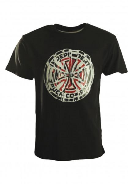 Independent T-Shirts Shredded black Vorderansicht