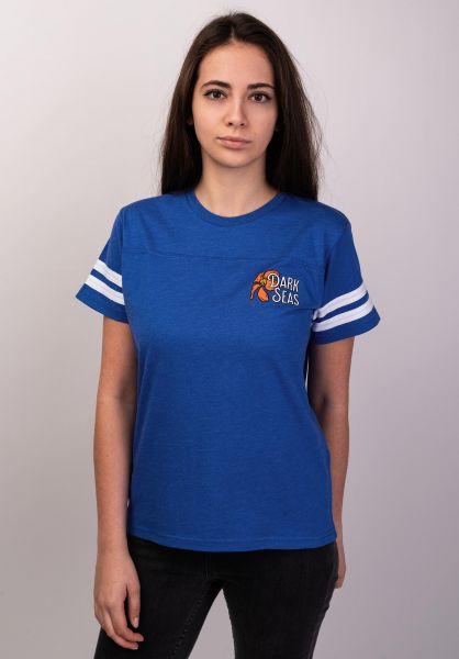 Dark Seas T-Shirts Aloha Flower Football Women heatherroyal vorderansicht 0399106