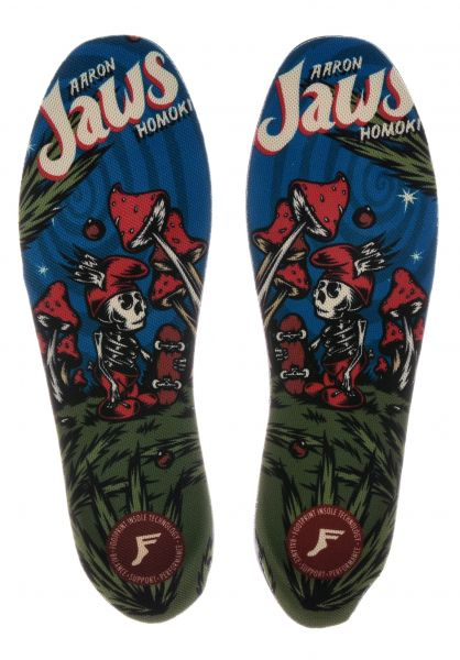 Footprint Insoles Einlegesohlen Kingfoam Elite Jaws Mushroom Small multicolored Vorderansicht