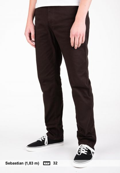 Element Chinos und Stoffhosen Sawyer chocolate Vorderansicht