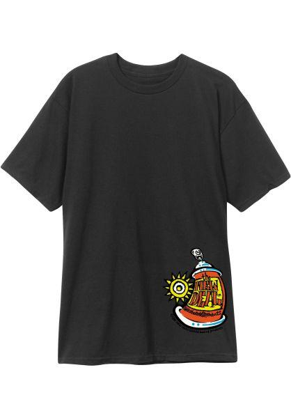 New-Deal T-Shirts Spray Can black vorderansicht 0322065