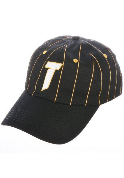 Thrasher Caps T Logo Old Timer black-yellow vorderansicht 0567180