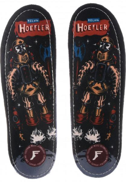 Footprint Insoles Einlegesohlen Kingfoam Orthotics Kelvon Hoefler Robot multicolored Vorderansicht