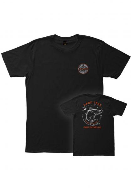 Dark Seas T-Shirts x Grundens Fisheye black Vorderansicht