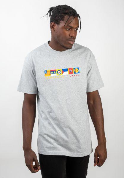 Lakai T-Shirts x Chocolate Flags greyheather vorderansicht 0320826