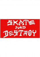 Thrasher-Verschiedenes-Skate-Destroy-Sticker-Large-red-Vorderansicht